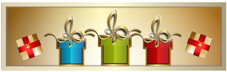 merry christmas geschenke banner