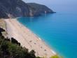 Milos beach on Lefkada