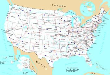 USA general map