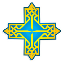 Ukrainian cross vector