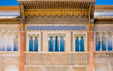 Alcazar in the old town of Sevilla