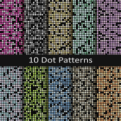 set of ten dot patterns