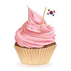 South Korean Cupcake