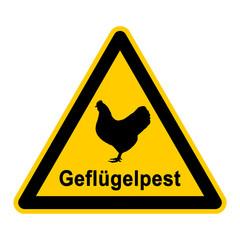 wso83 WarnSchildOrange - Symbol Geflügelpest - g2365