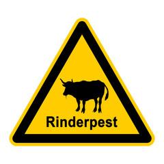 wso84 WarnSchildOrange - Symbol Rinderpest - g2366