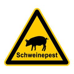 wso85 WarnSchildOrange - Symbol Schweinepest - g2367