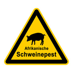 wso87 WarnSchildOrange - Symbol Afrikanische Schweinepest g2369