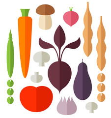 Vegetable. Icon Set