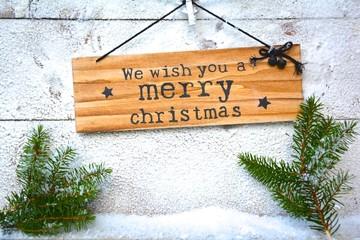 Weihnachtsgrüße - Holzschild