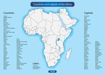 Countries and capitals of the Africa