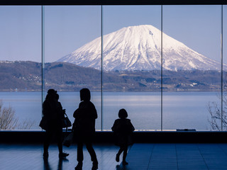 Look to Yotei mountain or Little Mt.Fuji of Hokkaido, Japan