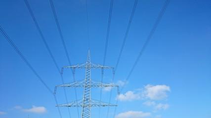Strommast freileitungsseile