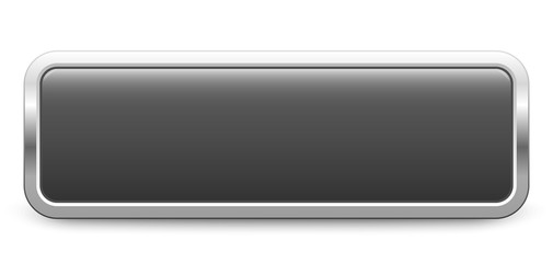 Long rectangular template - dark gray metallic button