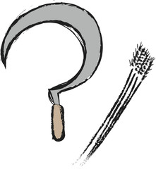 doodle sickle and wheat
