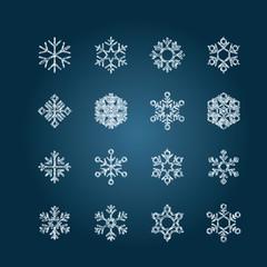 Chalk snowflakes - Set3 collection