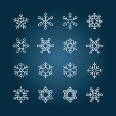 Chalk snowflakes - Set5 collection
