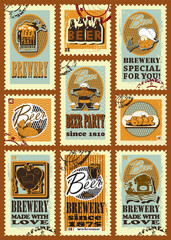 Postage stamps for beer