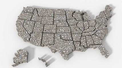 USA map texture roccia