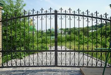 Kiev Pechersk Lavra Monastery in Kiev, Ukraine through the gate