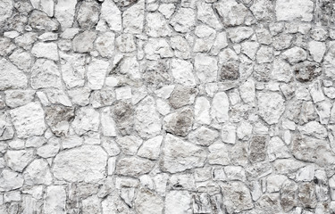 Background texture of white wall made of stone