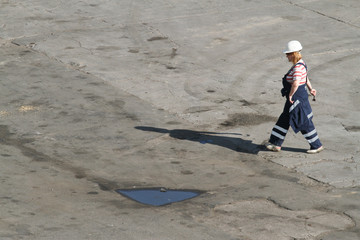 Hafenarbeiterin