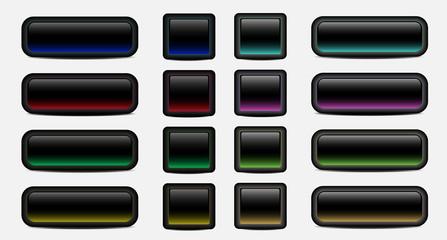 Blank dark buttons