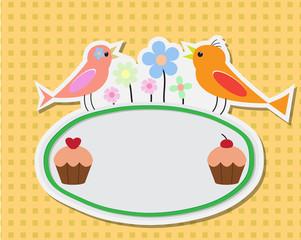 birthday illustration card