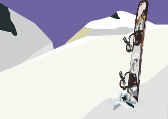 snowboard panorama
