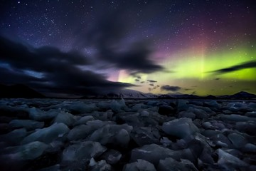 Northern Lights (Aurora Borealis) - Arctic, Spitsbergen