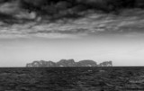 Colorless Seascape Dark Horizon poster
