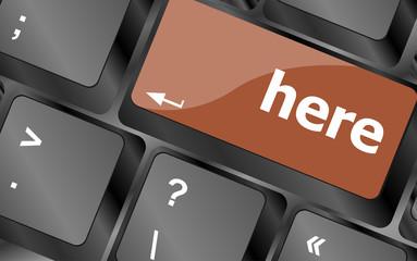 here word on computer pc keyboard key