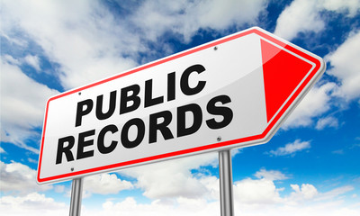 Public Records on Red Road Sign.
