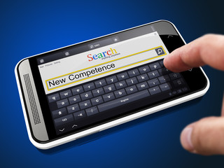 New Competence - Search String on Smartphone.