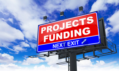 Projects Funding on Red Billboard.