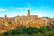 Leinwandbild Motiv Tuscany, Pitigliano medieval village panorama landscape. Italy