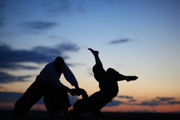 Effective self-defense technique, masters of martial arts