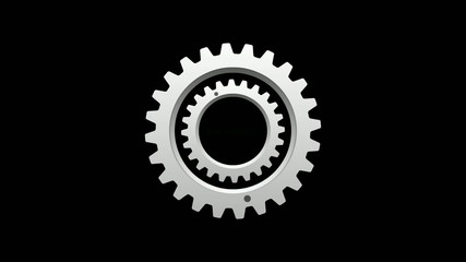 Now Loading_Rotating Gear_Black