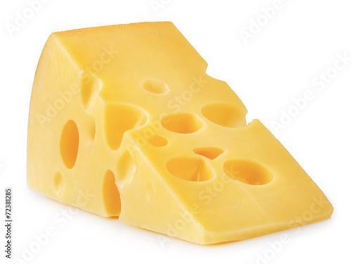 piece of cheese isolated - 72381285