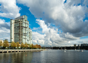 Vancouver Apartment Building Overlooking False Creek