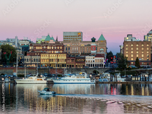 Foto op Canvas Canada Victoria Inner Harbor at Dusk