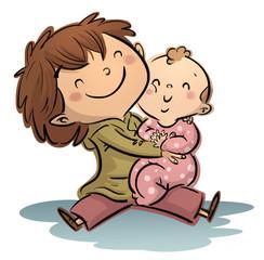 niño y bebe