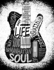 Guitar vector graphic design