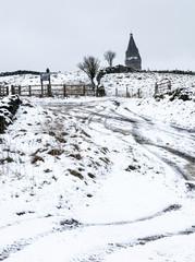 snow on pikehead tameside