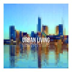 Urban cityscape background