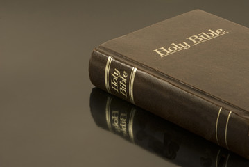Holy Bible on reflective Surface (Horizontal)