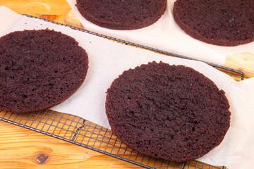 four chocolate sponges
