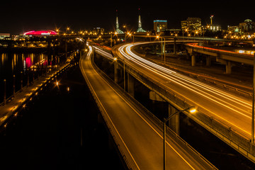 Bridge over the Willamette RIver at Night