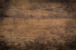 Leinwanddruck Bild - Brown wood texture. Abstract background