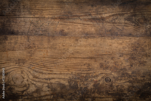 Leinwanddruck Bild Brown wood texture. Abstract background