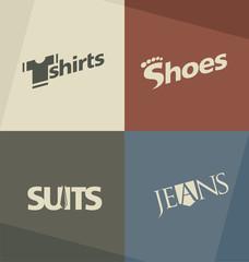 Set of fashion logo design concepts and ideas